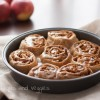Fat Free, Whole Wheat Apple Pie Cinnamon Rolls