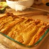 Barbeque Veggie Enchiladas with Cheese Sauce