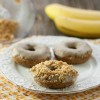 Healthy Gluten Free Donuts Topped with Nuts