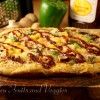 BBQ Veggie and Pineapple Pizza