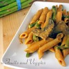 Penne with Portabella Mushrooms and Asparagus in a Tomato Cream Sauce (Vegan or not)