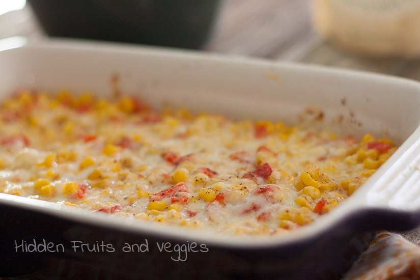 Swiss Cheese Corn Dip @hiddenfruitnveg