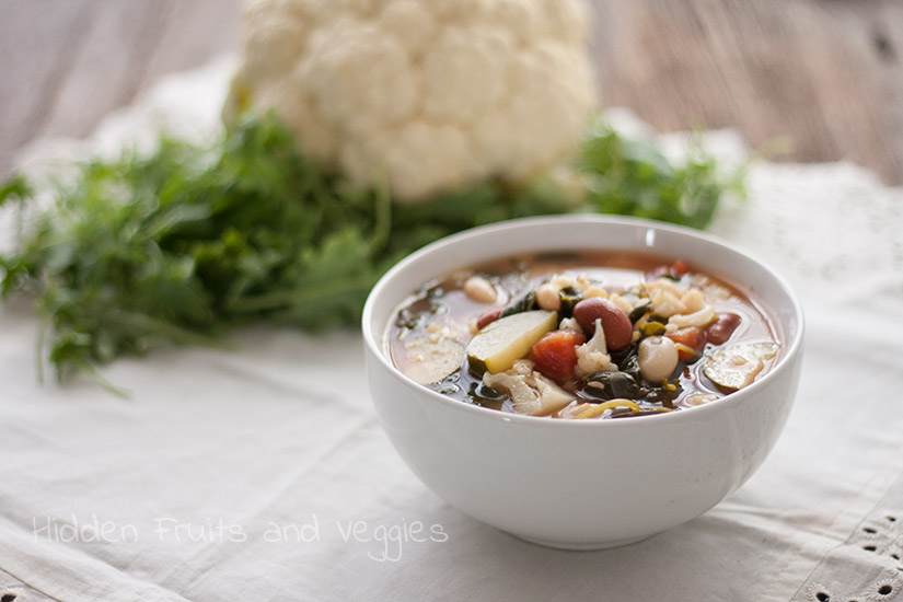 Loaded Veggie Soup @hiddenfruitnveg