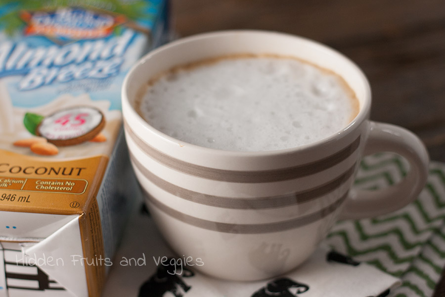 Cinnamon Latte with Almond Coconut Milk @hiddenfruitnveg