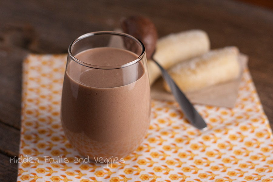 Chocolate Banana Milk @hiddenfruitnveg