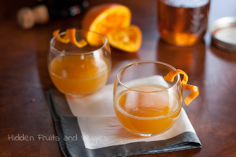 Cinnamon Orange Fashioned @hiddenfruitnveg