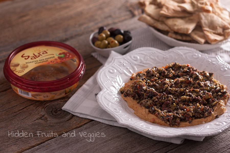 Olive Tapenade and Red Pepper Hummus Dip @hiddenfruitnveg